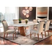 Conjunto Sala de Jantar Luna Com 6 Cadeiras Ciana
