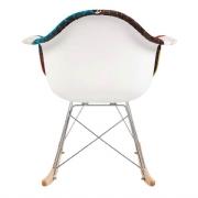Cadeira DKR 1122 PATCHWORK Com Braço Base Balanço