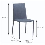 Cadeira Glan Linho 4403